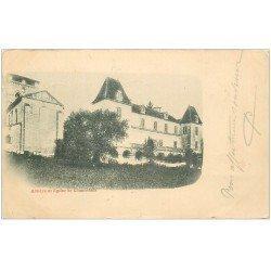 carte postale ancienne 24 ABBAYE ET EGLISE DE CHANCELADE 1901