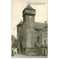 carte postale ancienne 24 BEAUMONT-DU-PERIGORD. Eglise