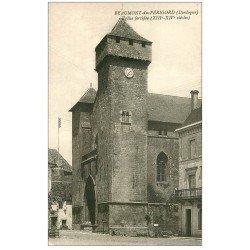 carte postale ancienne 24 BEAUMONT-DU-PERIGORD. Eglise