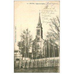 carte postale ancienne 24 BELVES. Eglise de Capelou 1903