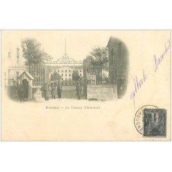 carte postale ancienne 24 BERGERAC. 1901 la Caserne d'Infanterie