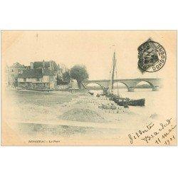 carte postale ancienne 24 BERGERAC. Le Port 1901