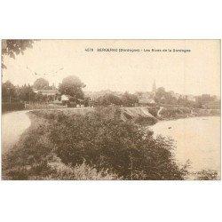 carte postale ancienne 24 BERGERAC. Les Rives de la Dordogne