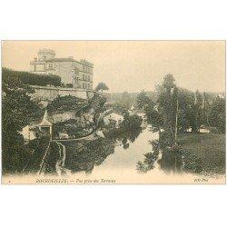 carte postale ancienne 24 BOURDEILLES. Les Terrasses