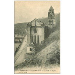 carte postale ancienne 24 BRANTOME. Clocher sur le Roc et abside Eglise