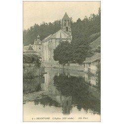 carte postale ancienne 24 BRANTOME. Eglise