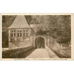 carte postale ancienne 24 BRANTOME. Pavillon Porte du Pont Condé
