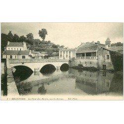 carte postale ancienne 24 BRANTOME. Pont des Barris sur la Drôme