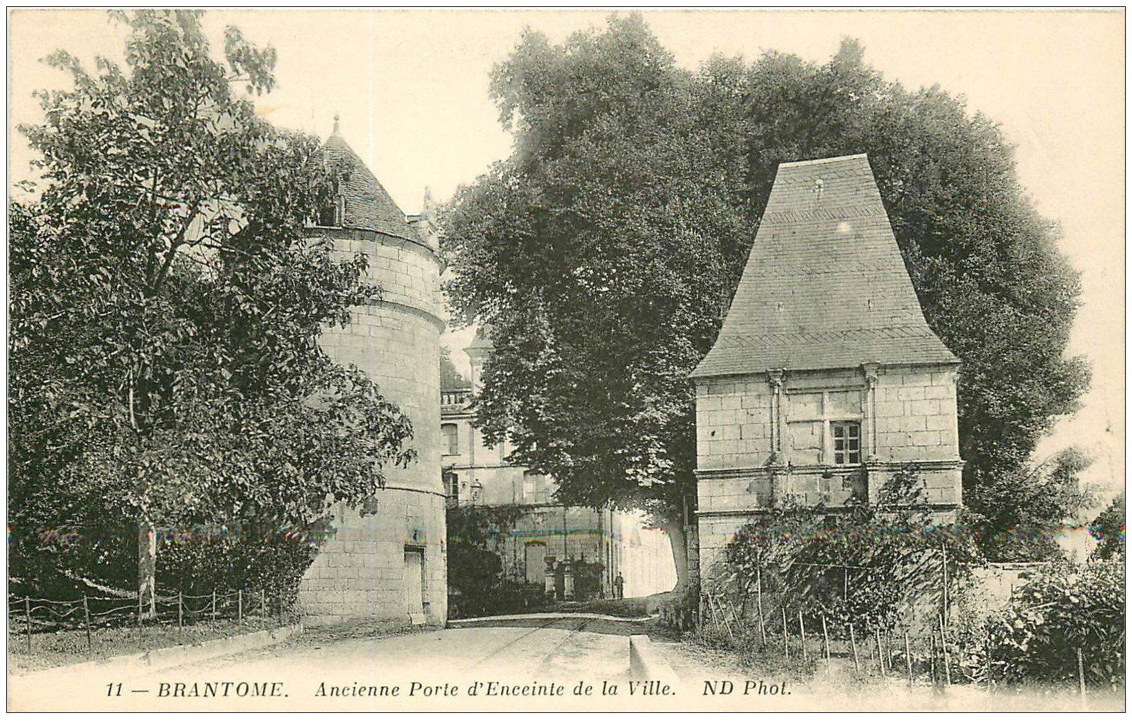 carte postale ancienne 24 BRANTOME. Porte d'Enceinte de la Ville
