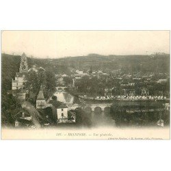 carte postale ancienne 24 BRANTOME. Vue générale vers 1900