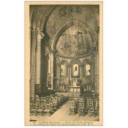 carte postale ancienne 24 CADOUIN. Choeur Eglise