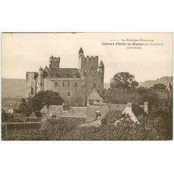 carte postale ancienne 24 CHATEAU DE BEYNAC côté Nord P.D.S