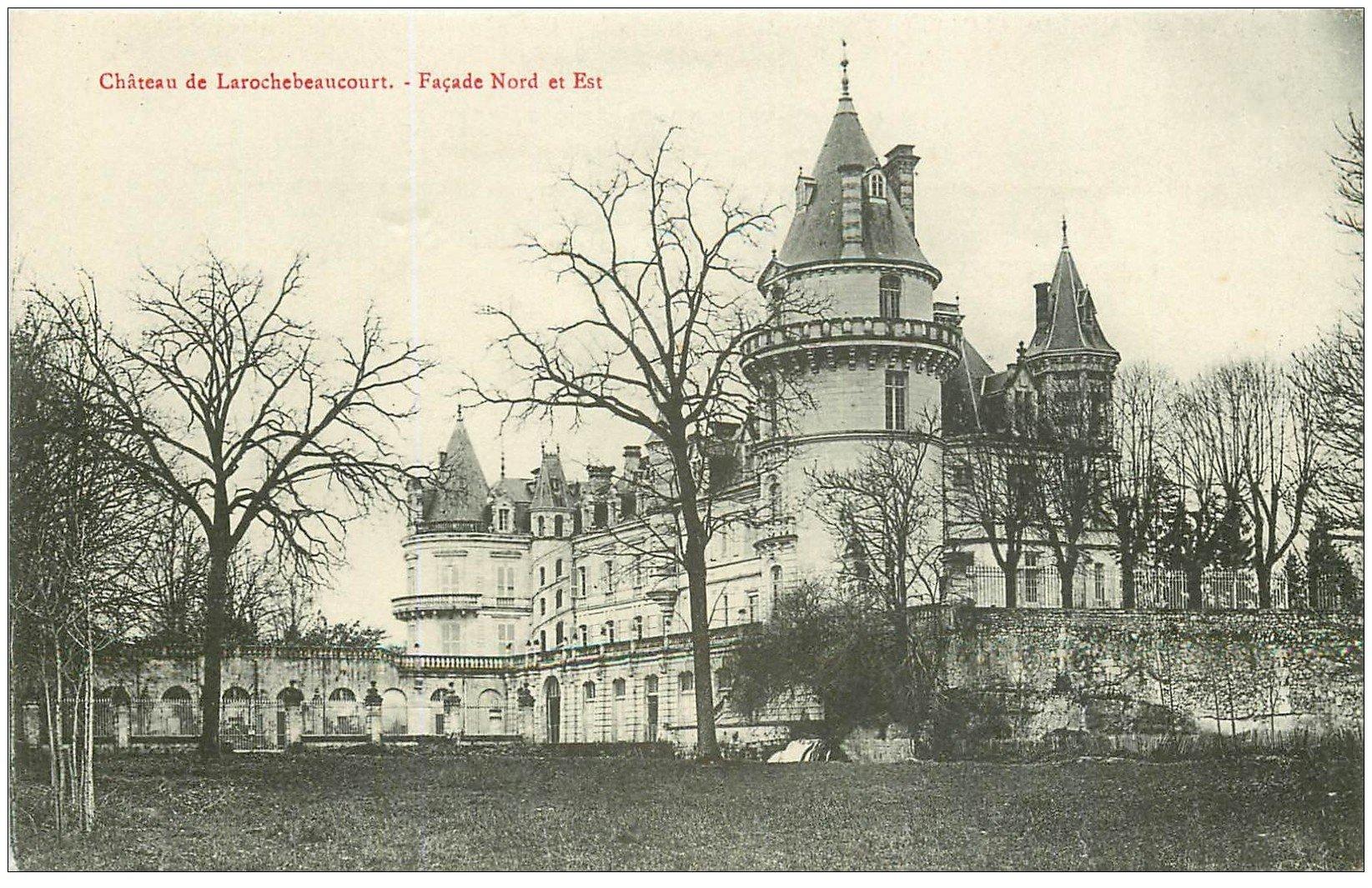 carte postale ancienne 24 CHATEAU DE LAROCHEBEAUCOURT. Façade Nord et Est