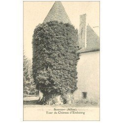 carte postale ancienne 03 SOUVIGNY. Tour du Château d'Embourg
