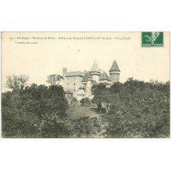 carte postale ancienne 24 CHATEAU DE PUYMARTIN 1908
