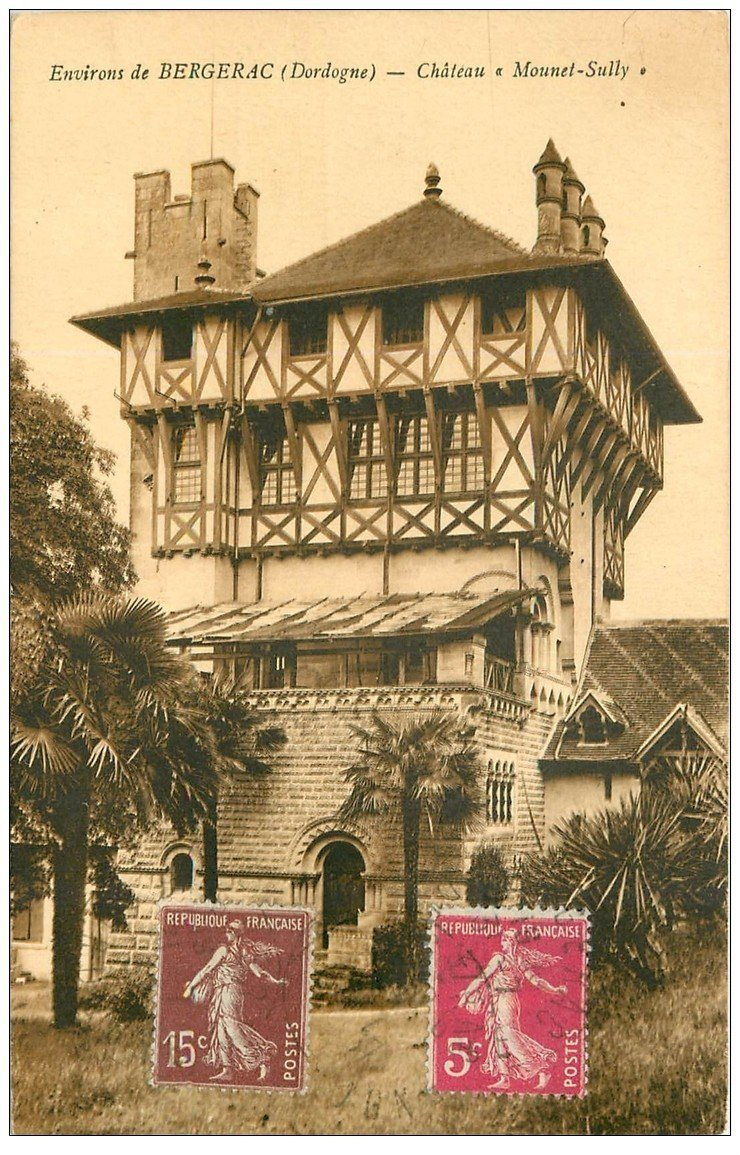 carte postale ancienne 24 CHATEAU MOUNET-SULLY