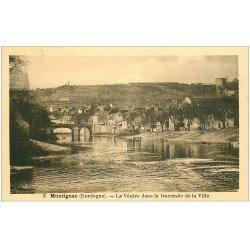 carte postale ancienne 24 MONTIGNAC. La Vézère 1939