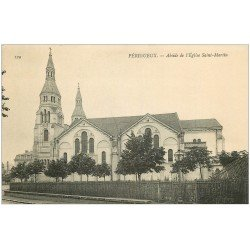 carte postale ancienne 24 PERIGUEUX. Eglise Saint-Martin Abside