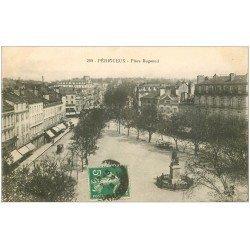 carte postale ancienne 24 PERIGUEUX. Place Bugeaud 1915