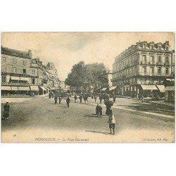 carte postale ancienne 24 PERIGUEUX. Place Daumesnil 1904. Magasin Orgues et Pianos