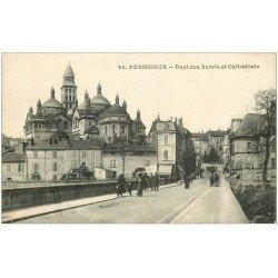carte postale ancienne 24 PERIGUEUX. Pont des Barris et Cathédrale
