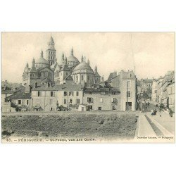 carte postale ancienne 24 PERIGUEUX. Saint-Front vue des Quais