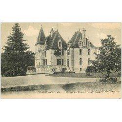 carte postale ancienne 03 VALLON. Château des Prugnes 1905