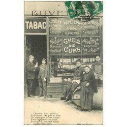 """24 PERIGUEUX. Tabac Buvette """""""" Chez le Curé """""""" 1914 ventes Cartes Ostales, Timbres, Montbazillac, Papeterie"""