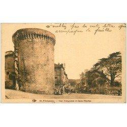 carte postale ancienne 24 PERIGUEUX. Tour Mataguerre Cours Fénelon 1932