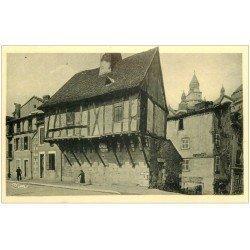 carte postale ancienne 24 PERIGUEUX. Vieux Moulin et Clocher Saint-Front. Carte bords dentelés à la ficelle
