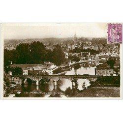 carte postale ancienne 24 PERIGUEUX. Vue générale 1935. Carte Photo