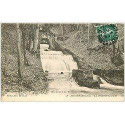 carte postale ancienne 25 ARCIER. La Grande Cascade 1908