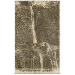 carte postale ancienne 25 ARGUEL par Beure. Cascade du Bout du Monde 1927
