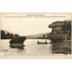 carte postale ancienne 25 BASSINS DU DOUBS. Rocher de la Casquette et d'Hercule