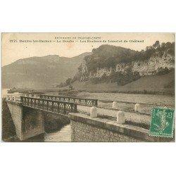 carte postale ancienne 25 BAUME-LES-DAMES. Rochers de Lonot et le Châtard 1916