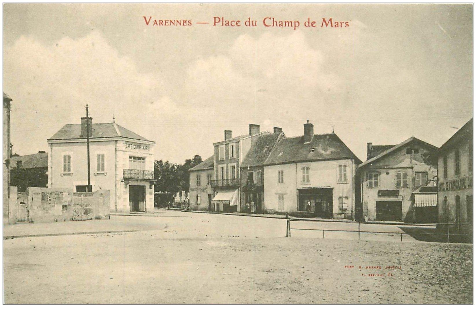 carte postale ancienne 03 VARENNES. Place du Champ de Mars. Hôtel de l'Agriculture