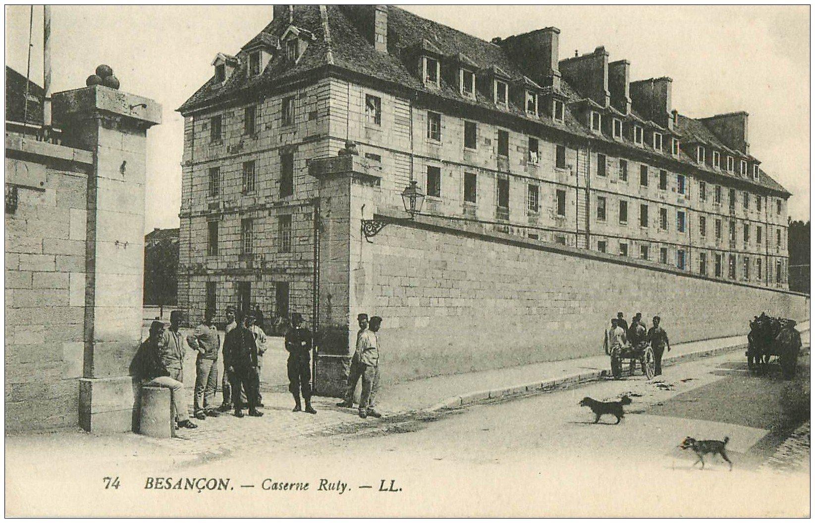 25 besancon caserne ruty 1910 militaires for 25 besancon