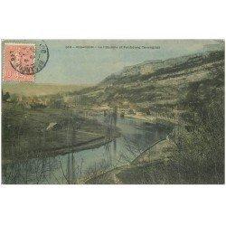 carte postale ancienne 25 BESANCON. Citadelle et Faubourg Tarragnoz 1905