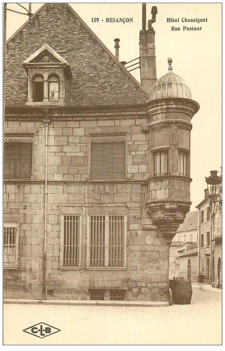 carte postale ancienne 25 BESANCON. Hôtel Chassignet Rue Pasteur