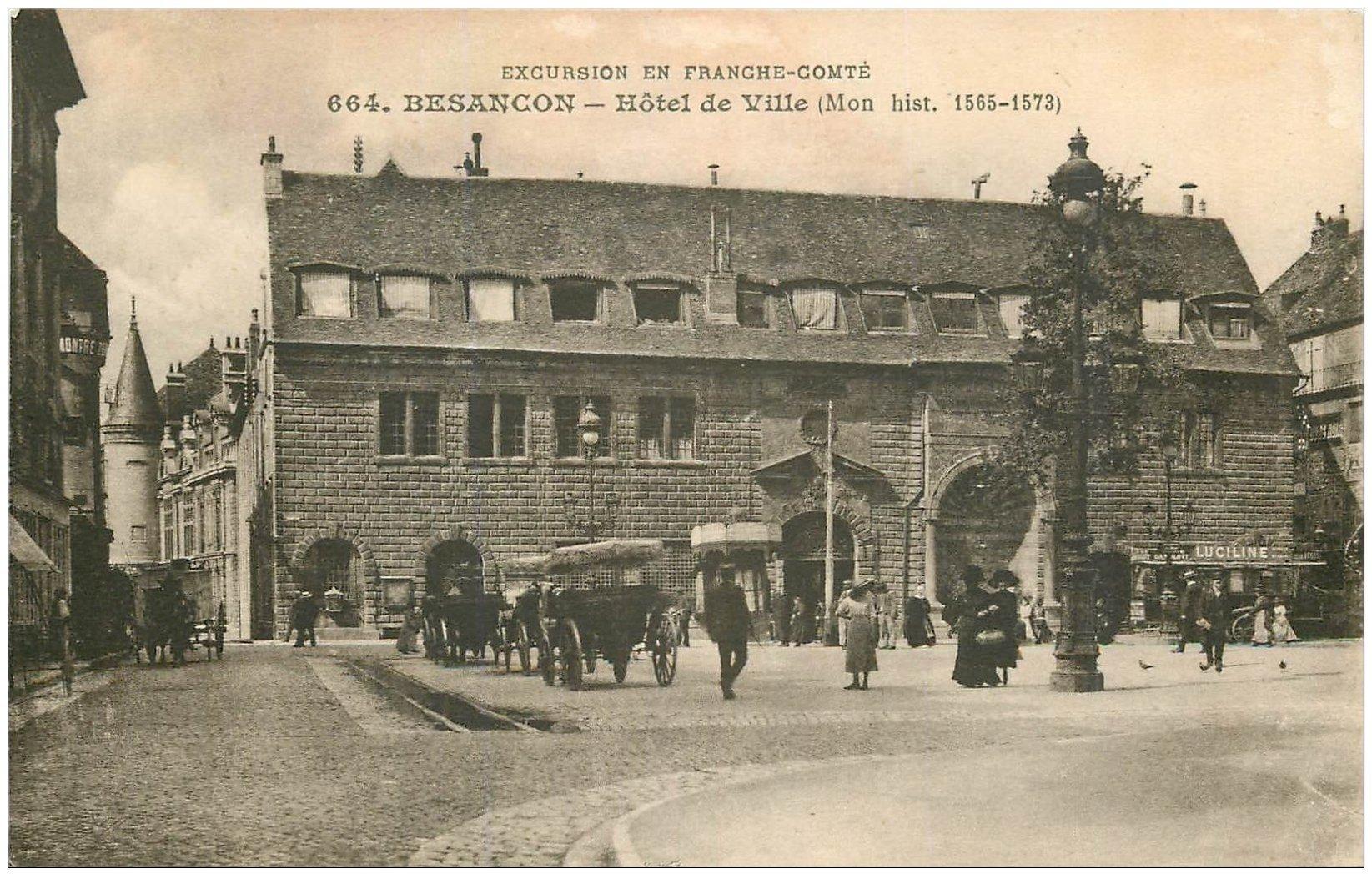 carte postale ancienne 25 BESANCON. Hôtel de Ville