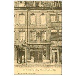 carte postale ancienne 25 BESANCON. Maison Natale de Victor-Hugo et Pharmacie