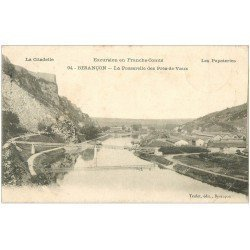 carte postale ancienne 25 BESANCON. Passerelle des Prés-de-Vaux 1908