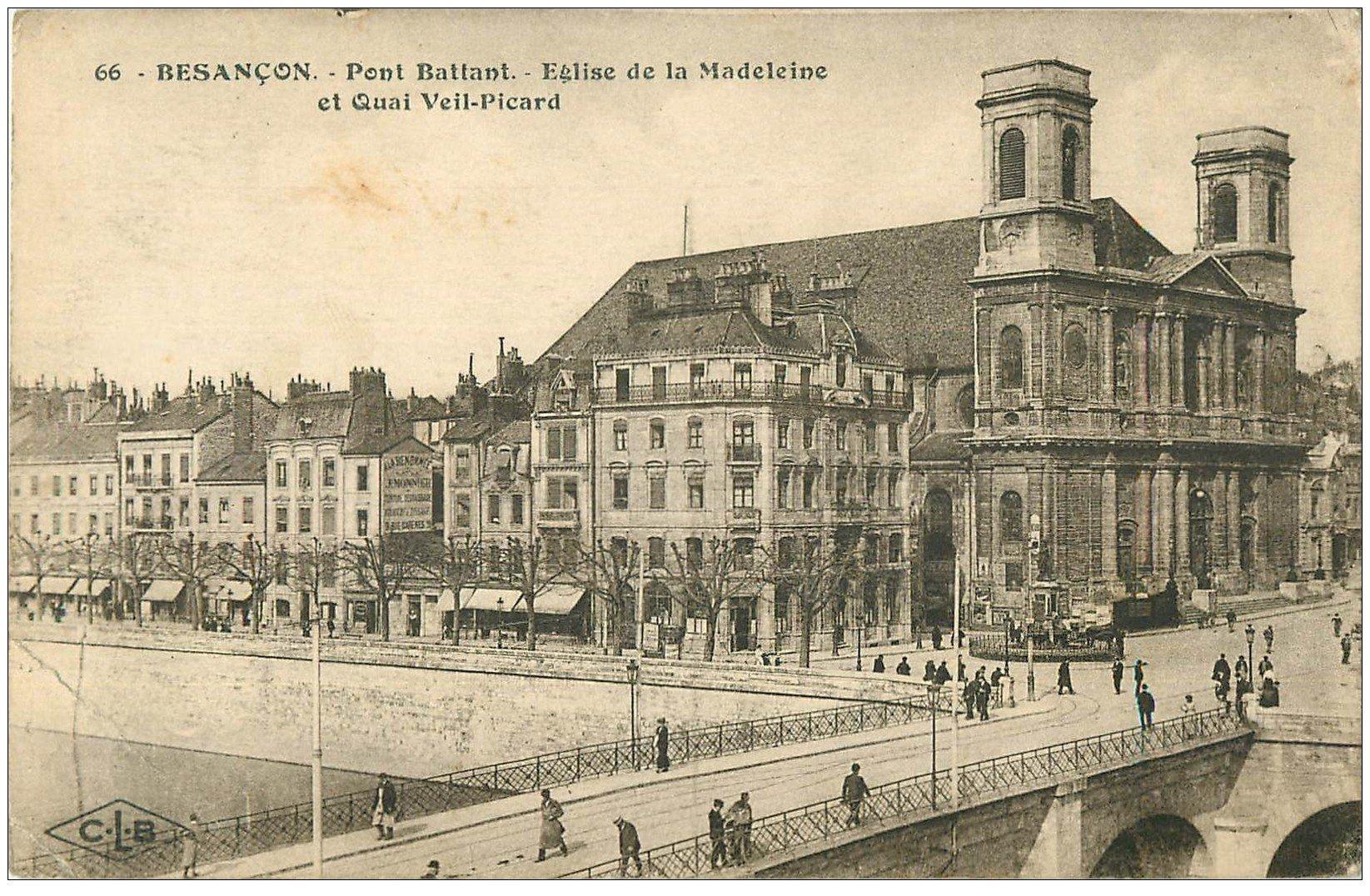 25 besancon pont battant et eglise de la madeleine quai for 25 besancon