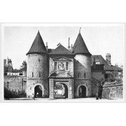 carte postale ancienne 25 BESANCON. Porte Rivotte. Carte Photo émaillographie