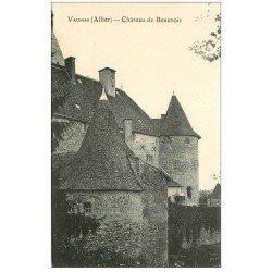 carte postale ancienne 03 VAUMAS. Château de Beauvoie