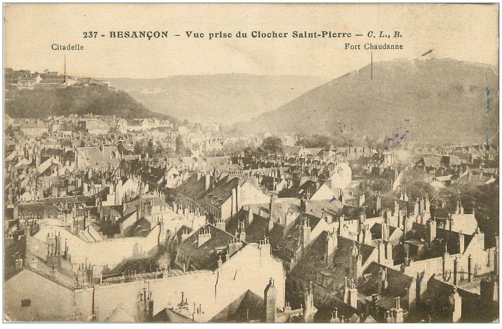 25 besancon vue prise du clocher saint pierre tampon for 25 besancon