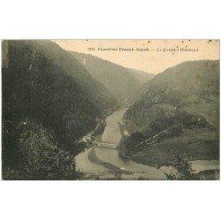 carte postale ancienne 25 BIAUFOND. Le Doubs 1926