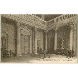 carte postale ancienne 25 CHATEAU DE MONCLEY. Le Vestibule