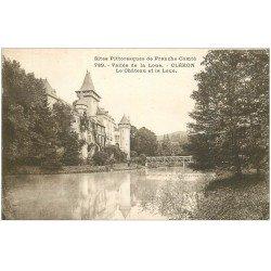 carte postale ancienne 25 CLERON. Château et Vallée de la Loue 1931