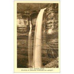 carte postale ancienne 25 CONSOLATION. Source et Grande Cascade du Lançot